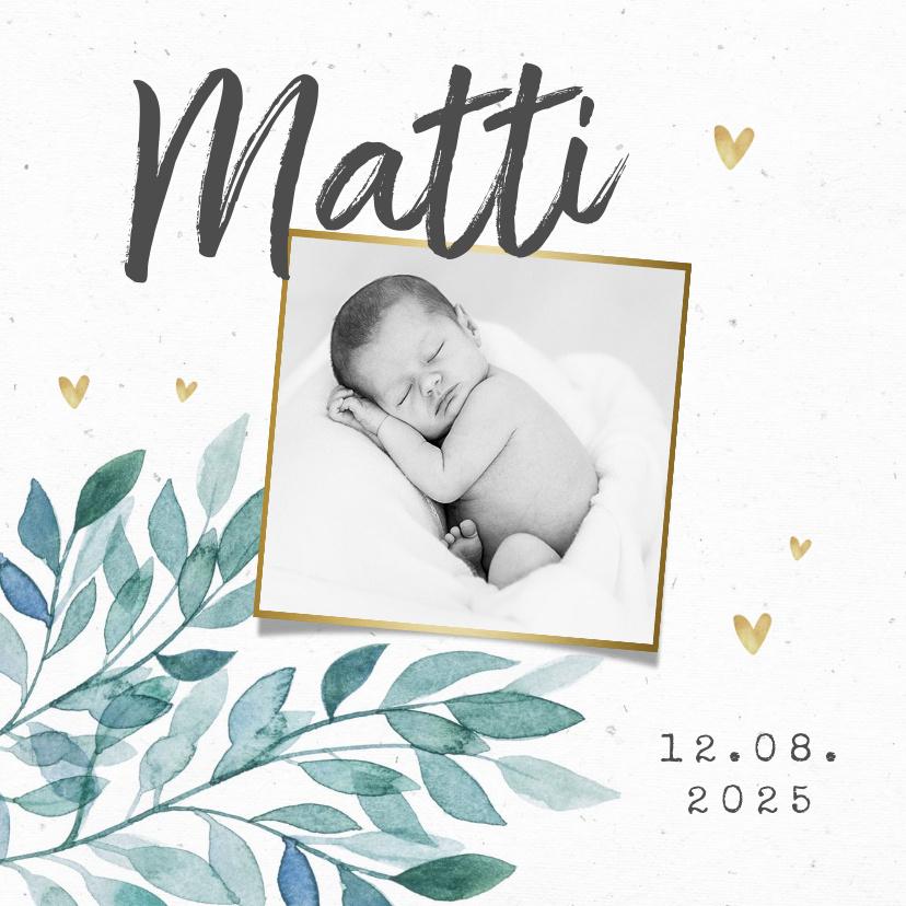 Vorname Matti als Geburtskarte
