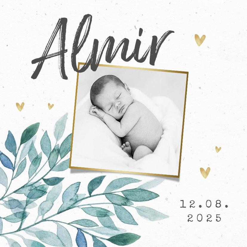 Vorname Almir als Geburtskarte