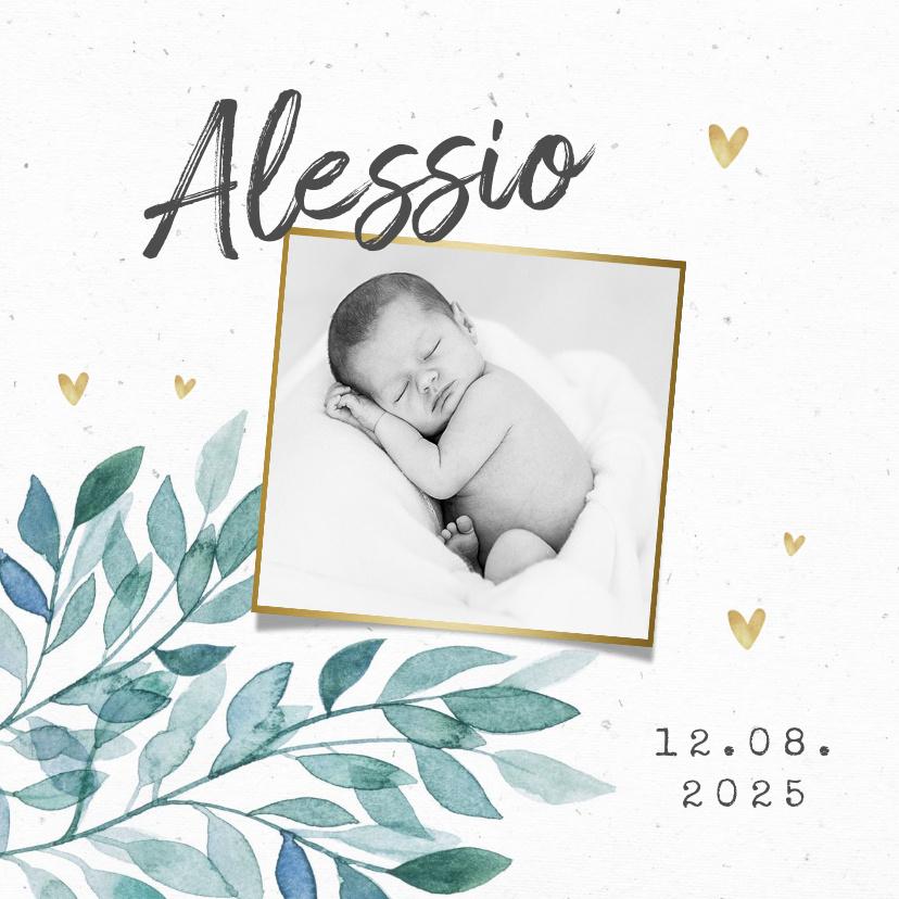 Vorname Alessio als Geburtskarte