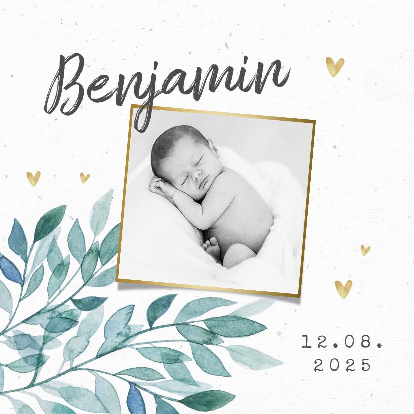 Vorname Benjamin als Geburtskarte