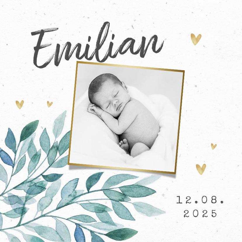 Vorname Emilian als Geburtskarte
