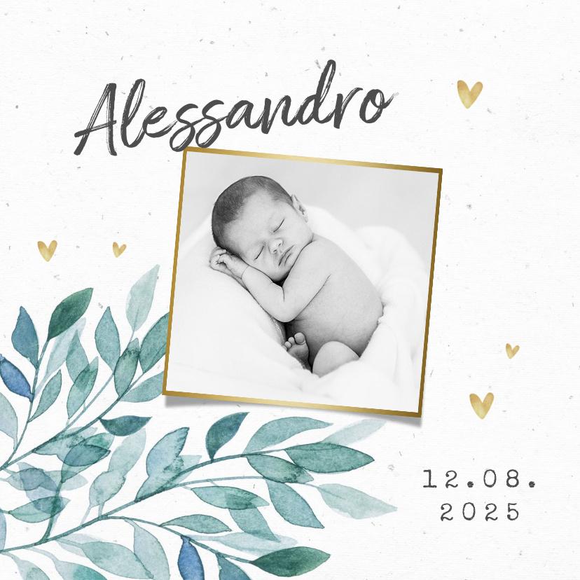 Vorname Alessandro als Geburtskarte