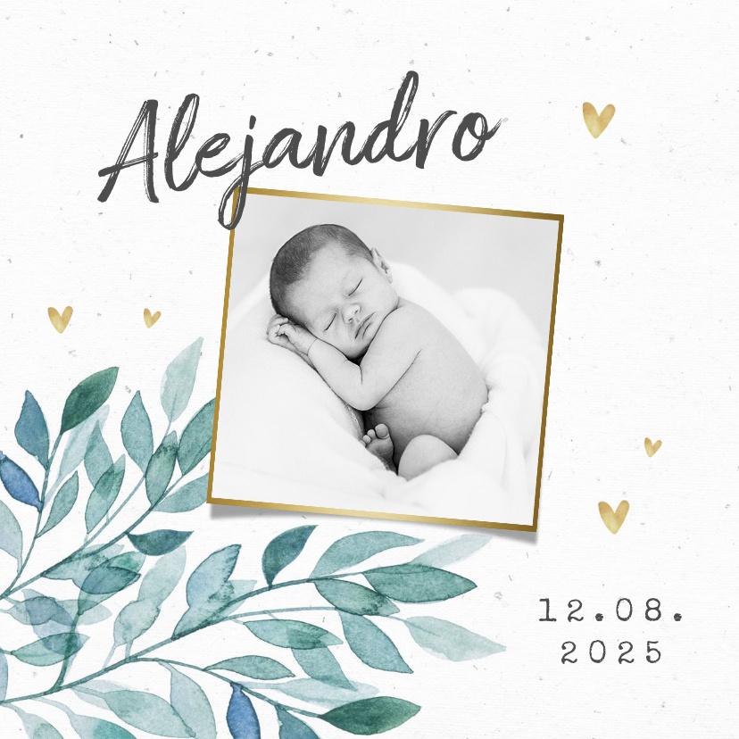 Vorname Alejandro als Geburtskarte