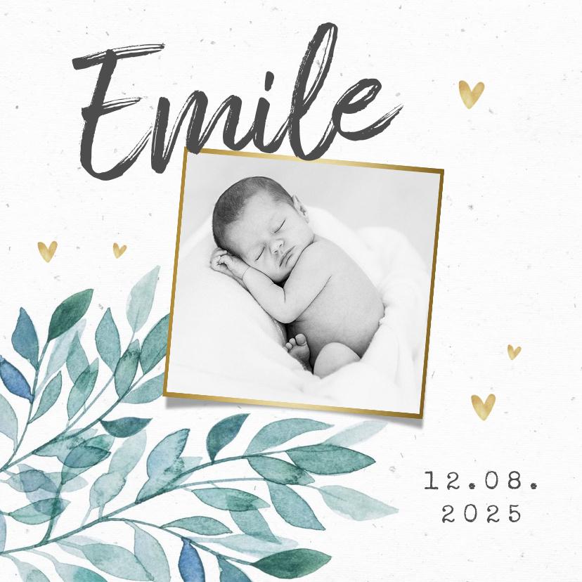 Vorname Emile als Geburtskarte