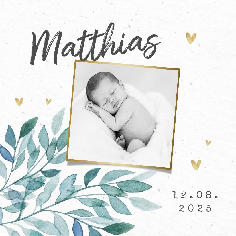 Vorname Matthias als Geburtskarte