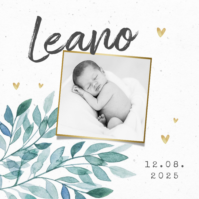 Vorname Leano als Geburtskarte
