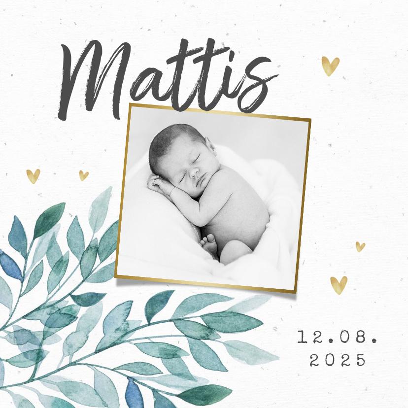 Vorname Mattis als Geburtskarte
