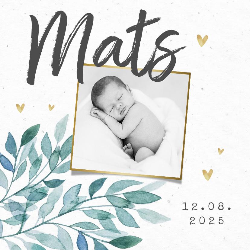 Vorname Mats als Geburtskarte