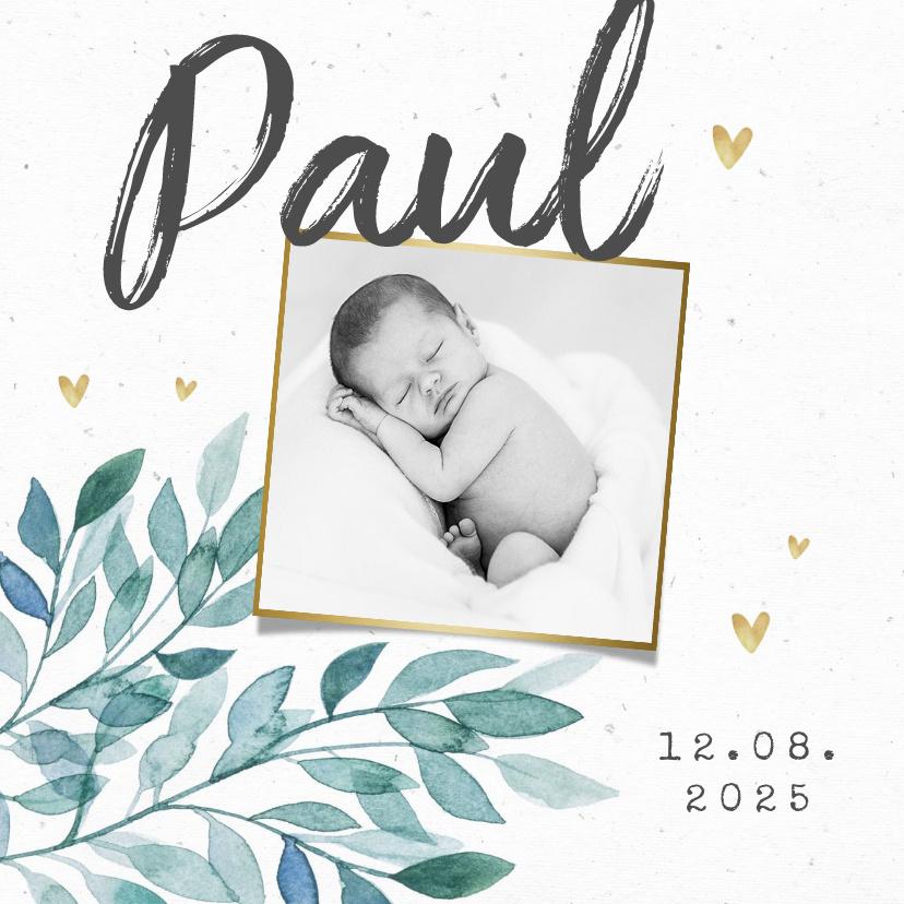 Vorname Paul als Geburtskarte