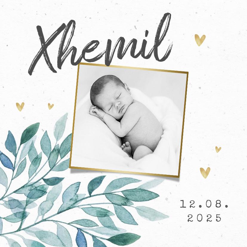Vorname Xhemil als Geburtskarte