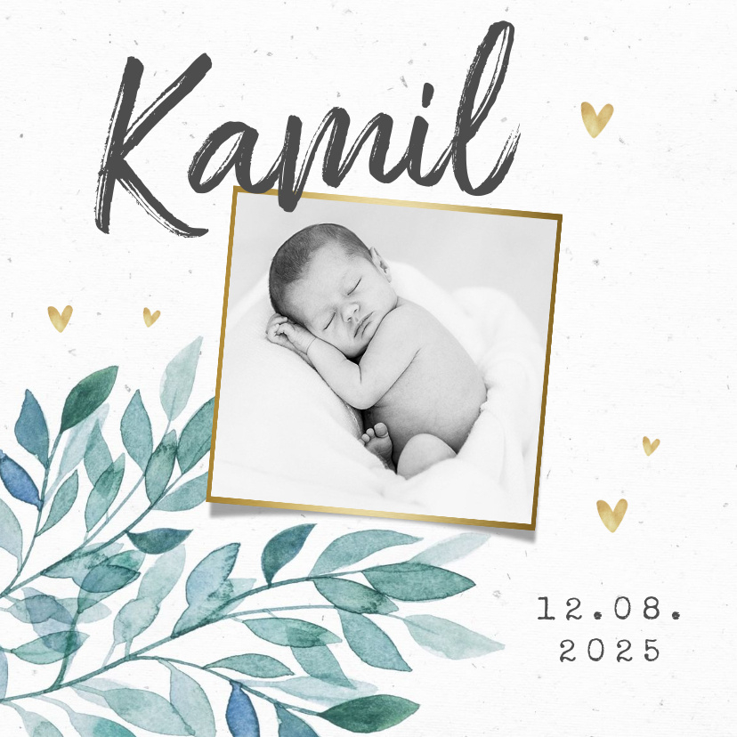 Vorname Kamil als Geburtskarte