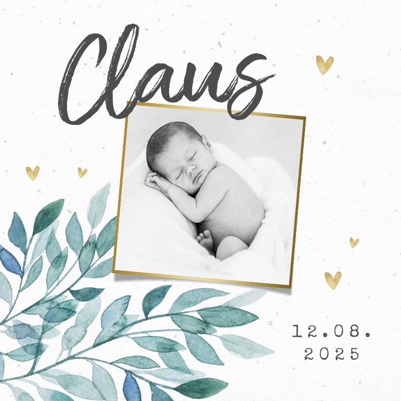 Vorname Claus als Geburtskarte