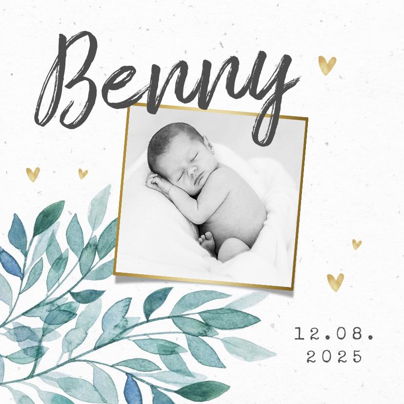 Vorname Benny als Geburtskarte